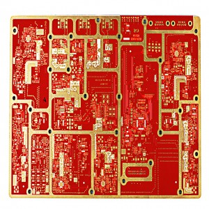 XWS 6 Layer Communication Board FR-4 Погружение Au PCB Base